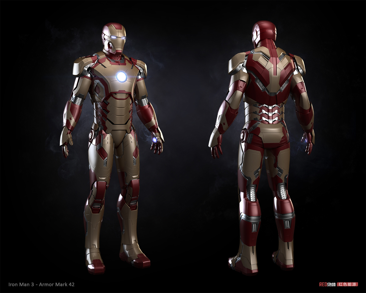 Iron Man 3 - armor Mark 42Iron Man 3 Poster Wallpaper Mark 42
